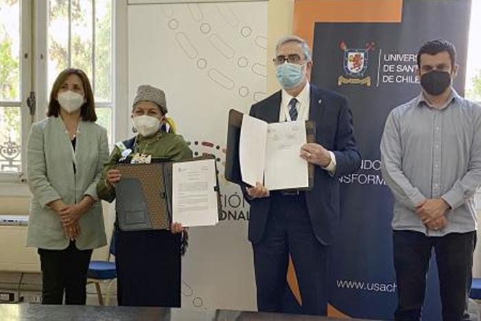 U. de Santiago firma convenio de colaboración con la Convención Constituyente